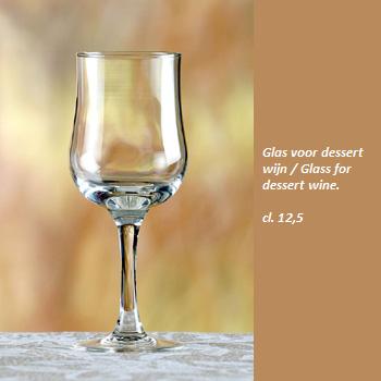 Wijnglas voor dessert wijn 12,5 cl.- Wineglass for desset wine 12,5 cl.