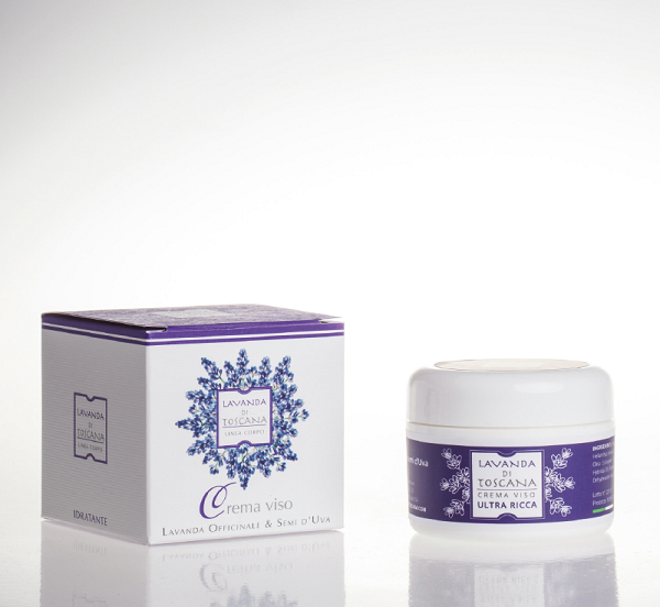 Gezichtscrème met Lavendel en Druivenpitextract-Face cream with lavender and Grape