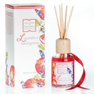 geurstokjes lavendel en appelgranaat-fragrance sticks lavender and pomegranate
