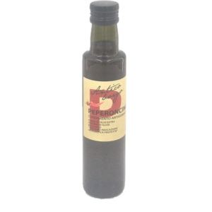 Gearomatiseerde olijfolie met chilipeper-Falvored olive oil with chilipepper