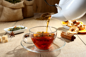 Toscaanse kruidenthee-infusions